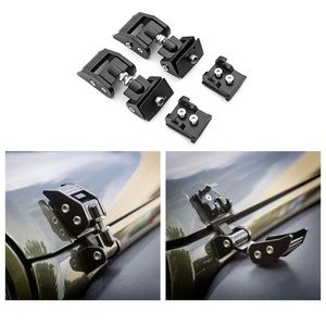 BLACK HOOD LATCHES for '07-'17 JeepWrangler JK/JKU